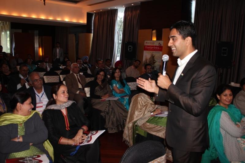 Simerjeet Delivering Talk