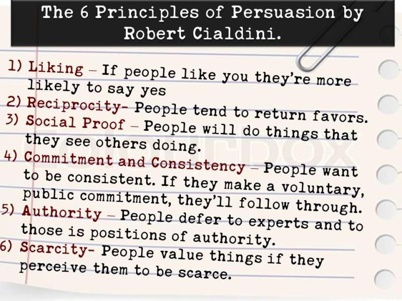 6 Principles of Persuasion by Robert Cialdini