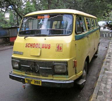 School buses in India