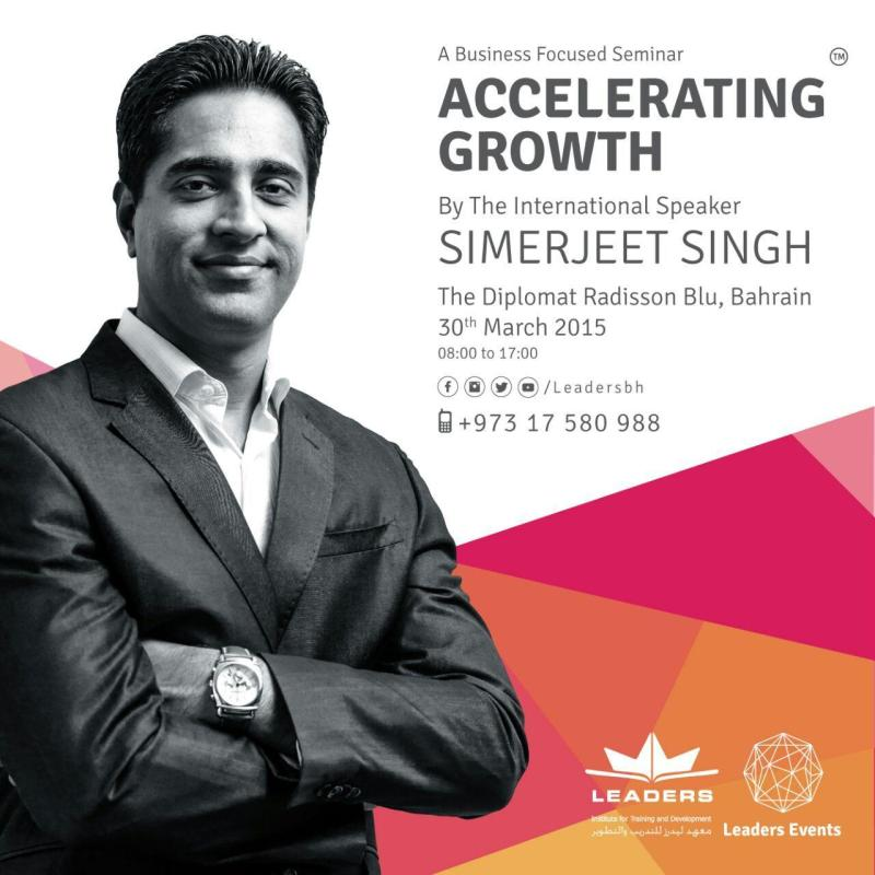 Accelerating Growth Bahrain Poster