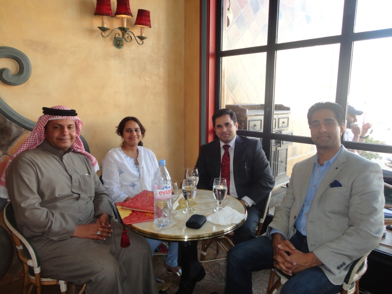 Lunch with clients in Bahrain